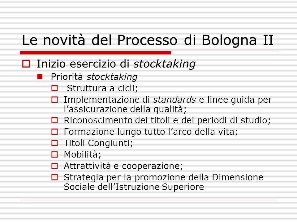 Le novità del Processo di Bologna II
