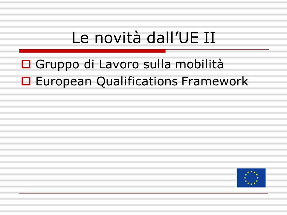 Le novità dall'UE II Gruppo di Lavoro sulla mobilità