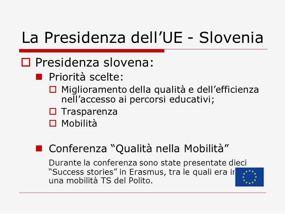 La Presidenza dell'UE - Slovenia