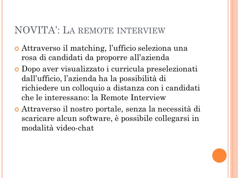 NOVITA': La remote interview