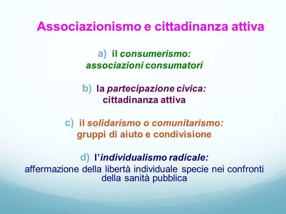 Associazionismo e cittadinanza attiva