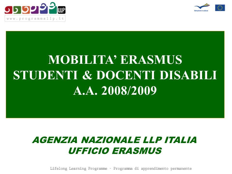 STUDENTI & DOCENTI DISABILI AGENZIA NAZIONALE LLP ITALIA