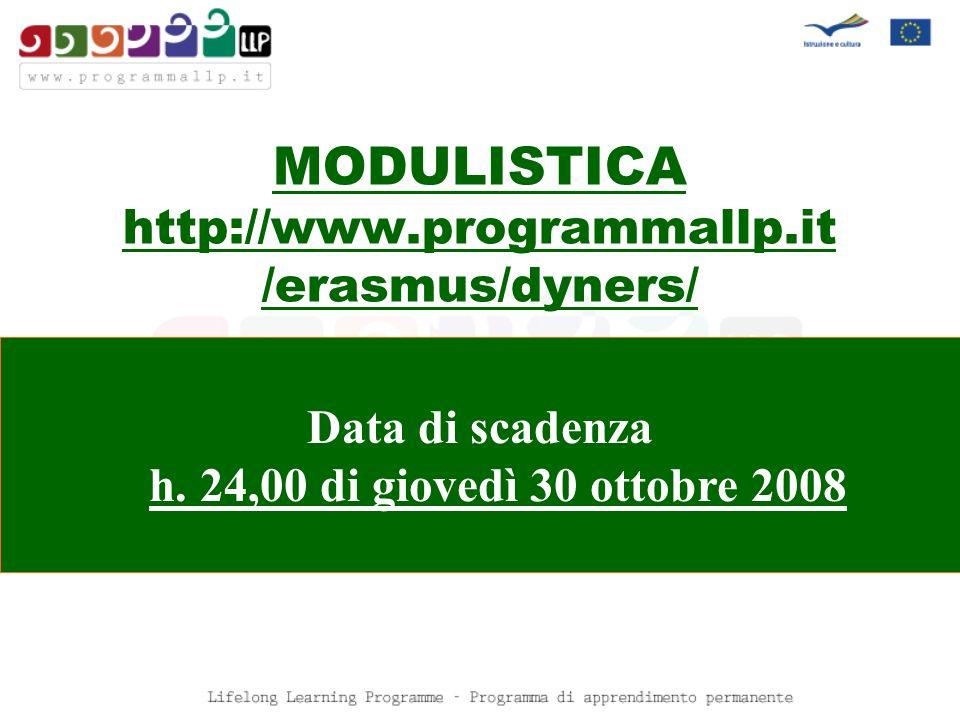 MODULISTICA http://www.programmallp.it /erasmus/dyners/
