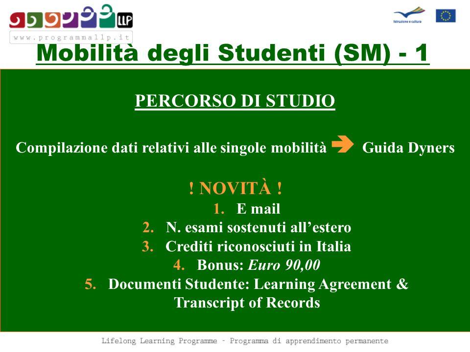 Mobilità degli Studenti (SM) - 1