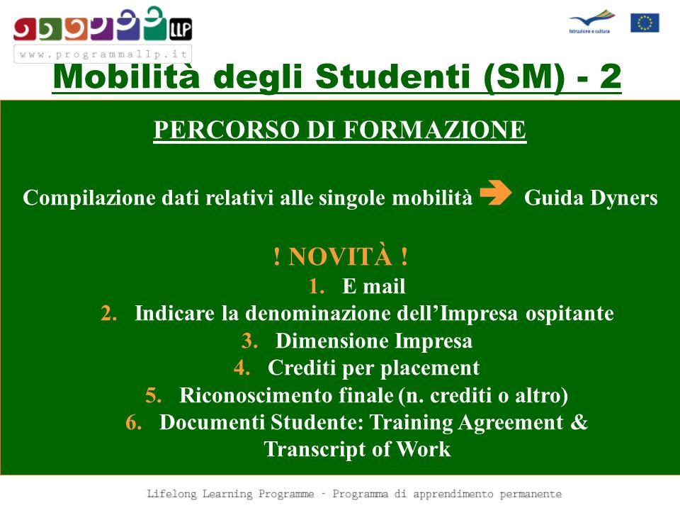 Mobilità degli Studenti (SM) - 2