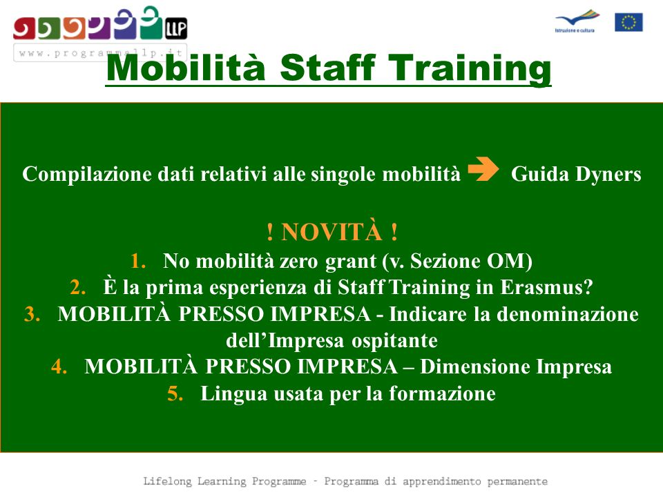 Mobilità Staff Training