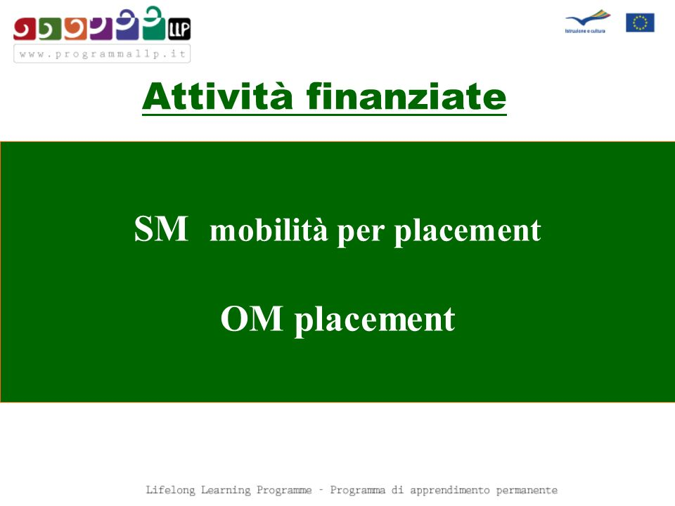 SM mobilità per placement