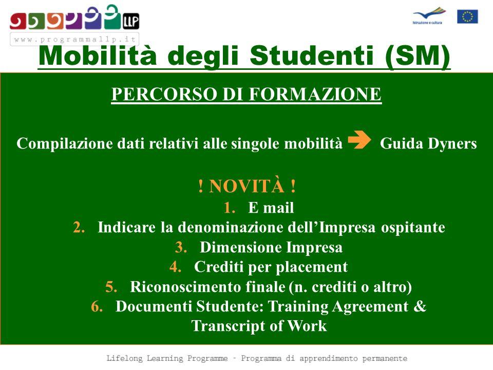 Mobilità degli Studenti (SM)