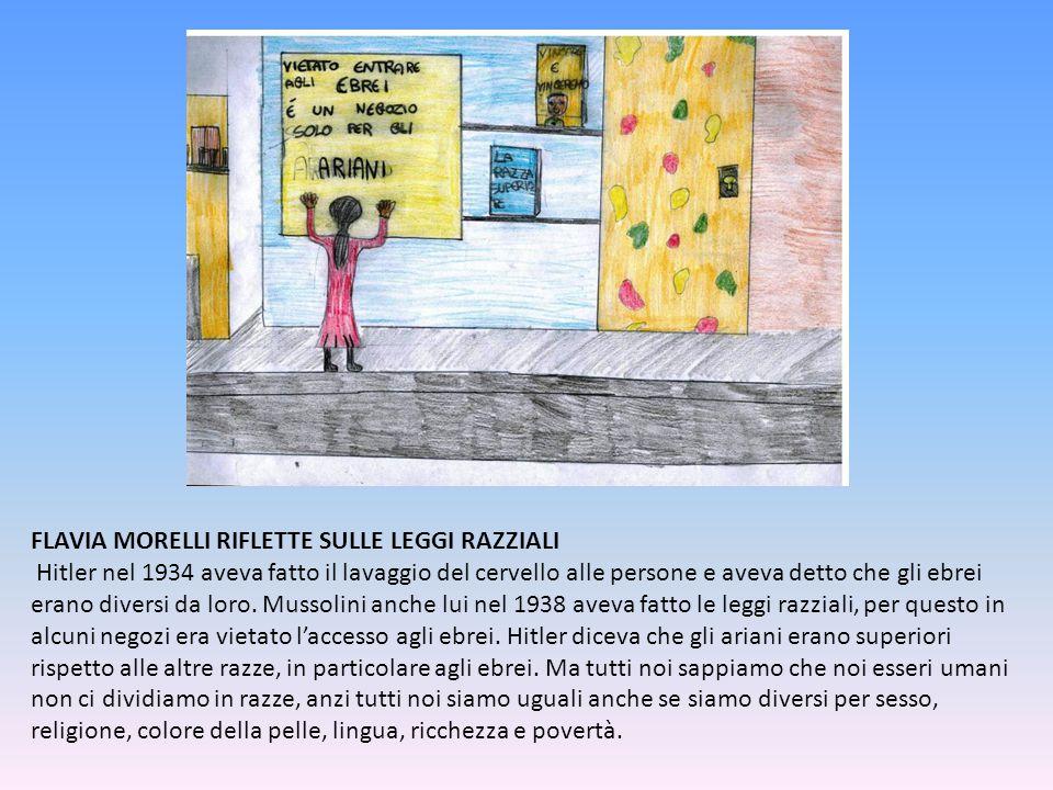 FLAVIA MORELLI RIFLETTE SULLE LEGGI RAZZIALI