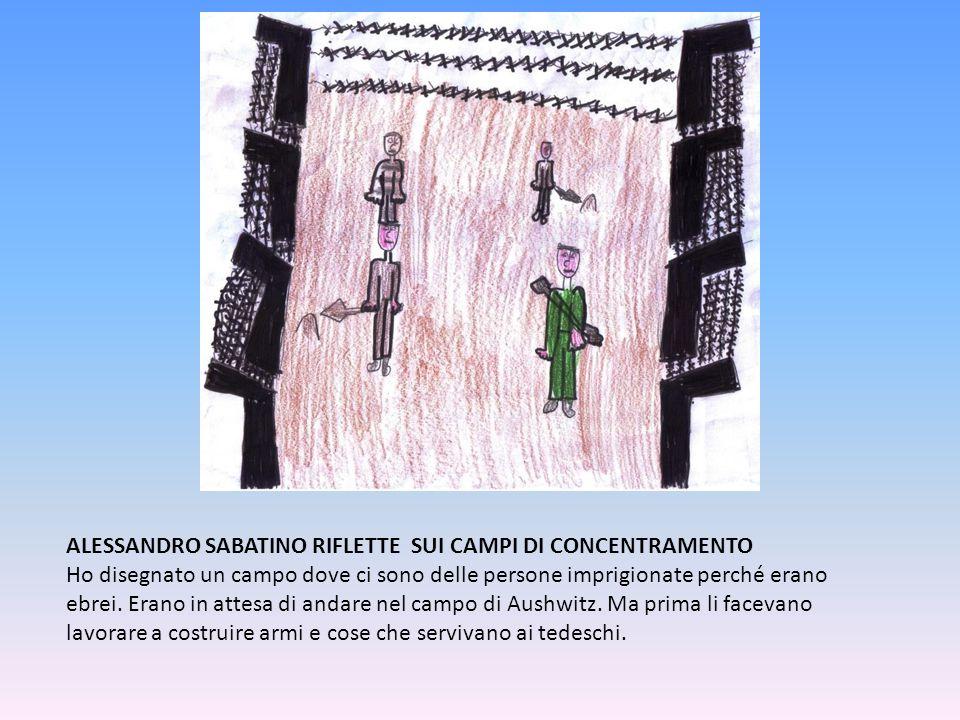 ALESSANDRO SABATINO RIFLETTE SUI CAMPI DI CONCENTRAMENTO