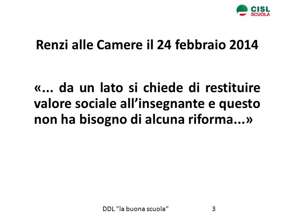 Renzi alle Camere il 24 febbraio 2014