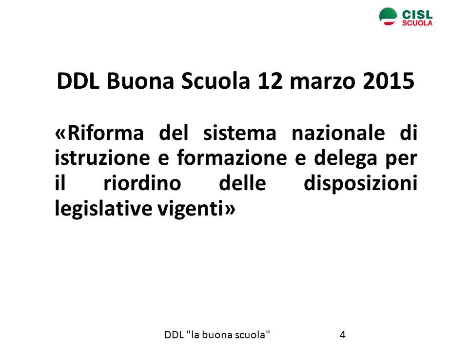 DDL Buona Scuola 12 marzo 2015