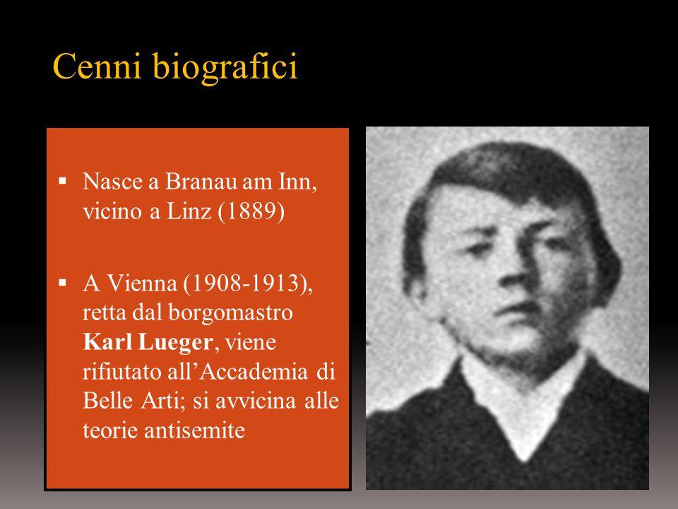 Cenni biografici Nasce a Branau am Inn, vicino a Linz (1889)