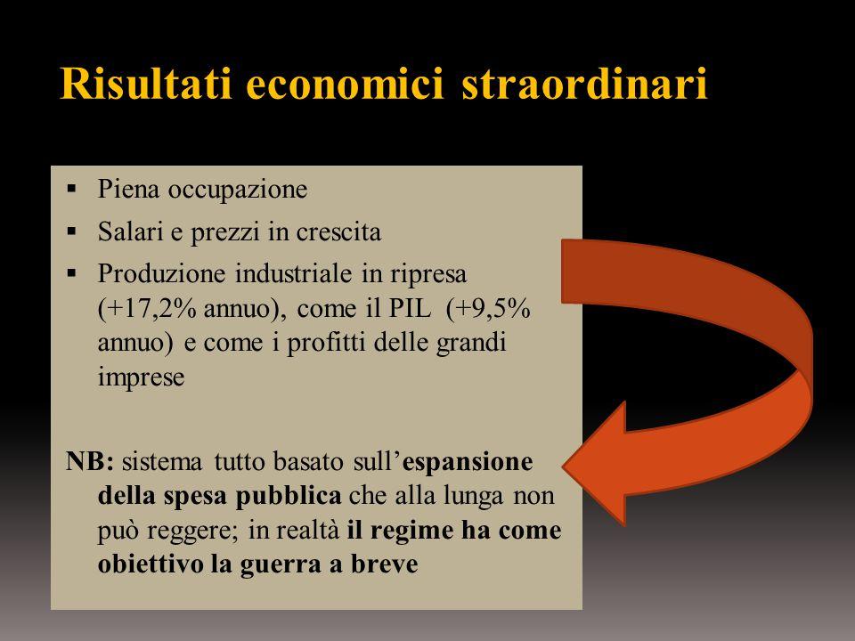 Risultati economici straordinari