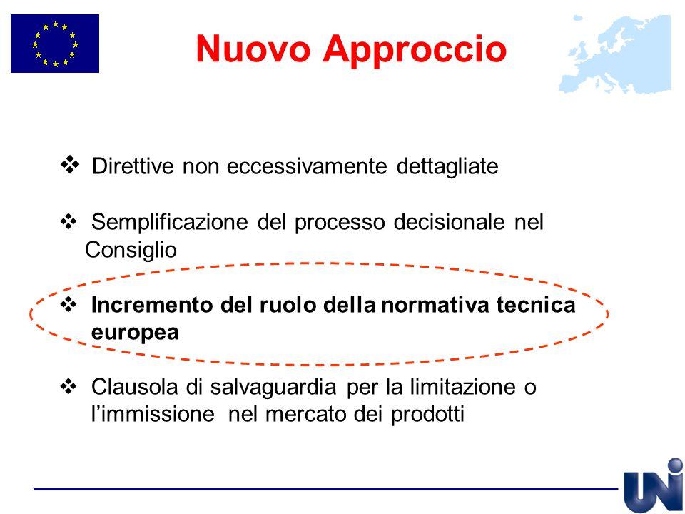 Nuovo Approccio Direttive non eccessivamente dettagliate