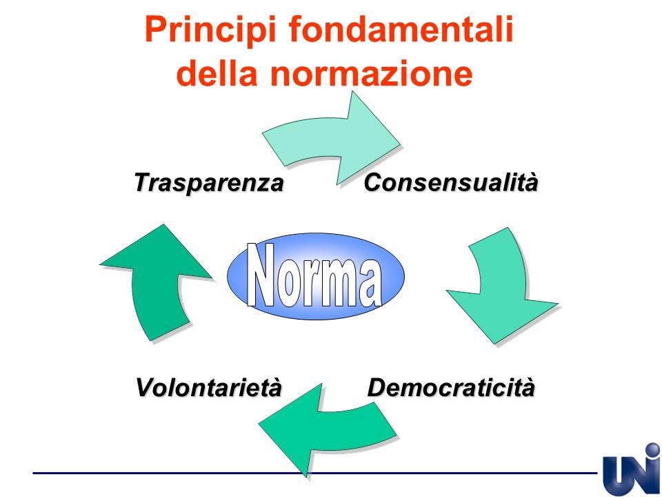 Principi fondamentali della normazione