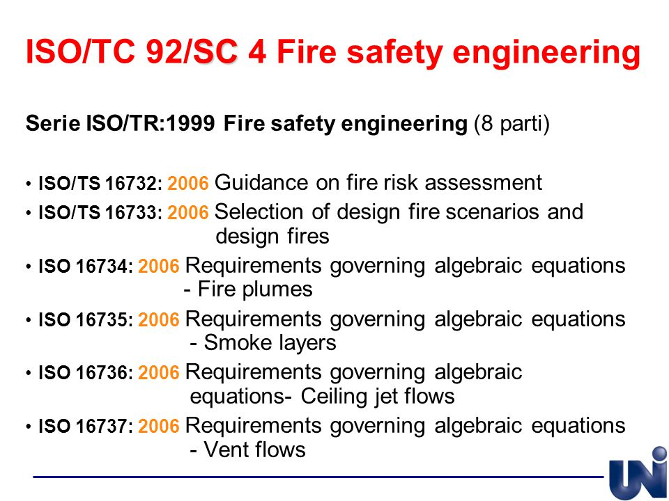 ISO/TC 92/SC 4 Fire safety engineering