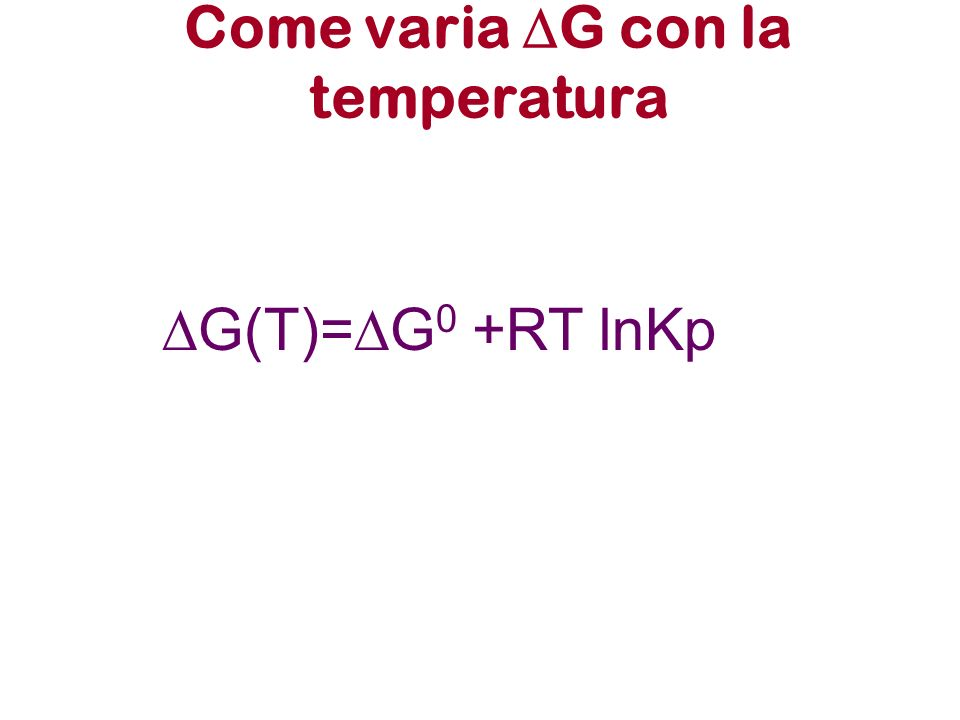 Come varia DG con la temperatura