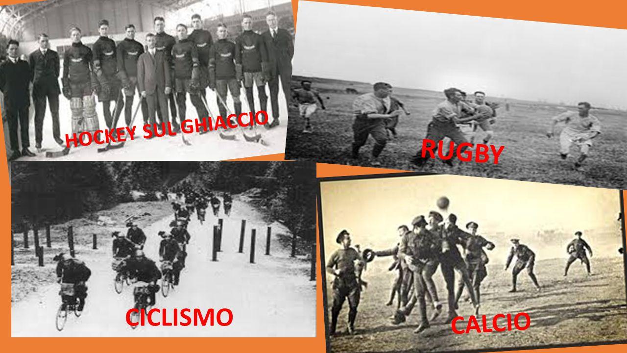 HOCKEY SUL GHIACCIO RUGBY CICLISMO CALCIO