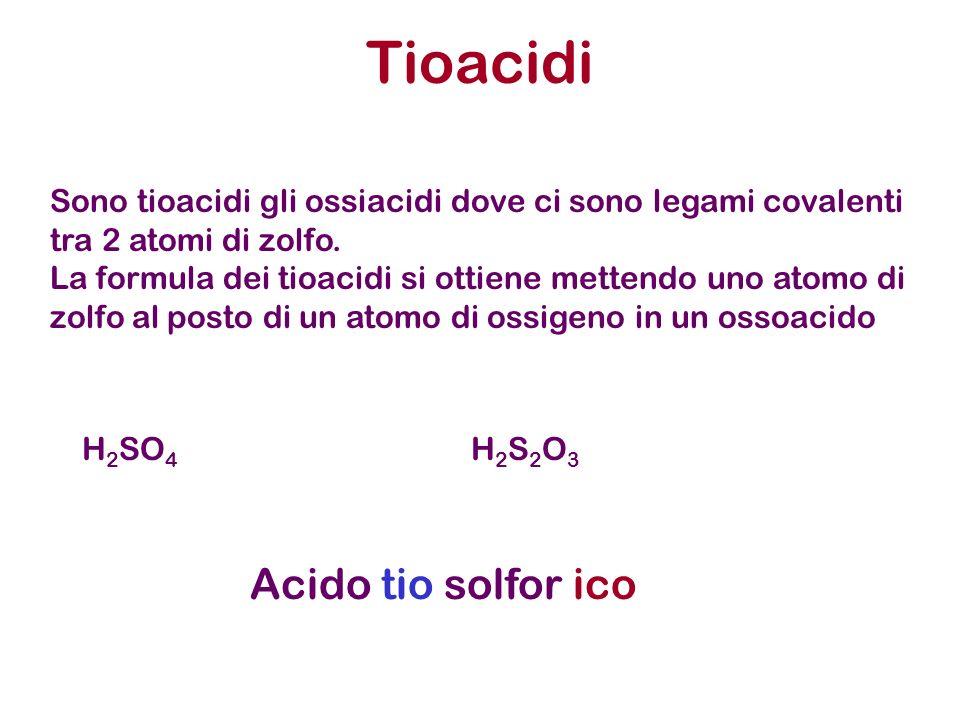 Tioacidi Acido tio solfor ico