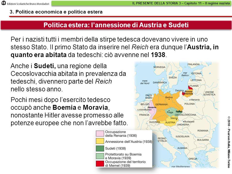 Politica estera: l'annessione di Austria e Sudeti