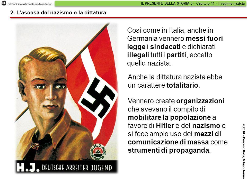 Anche la dittatura nazista ebbe un carattere totalitario.