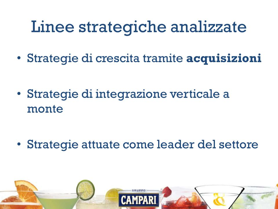 Linee strategiche analizzate