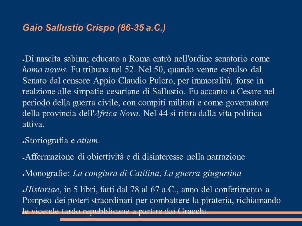 Gaio Sallustio Crispo (86-35 a.C.)