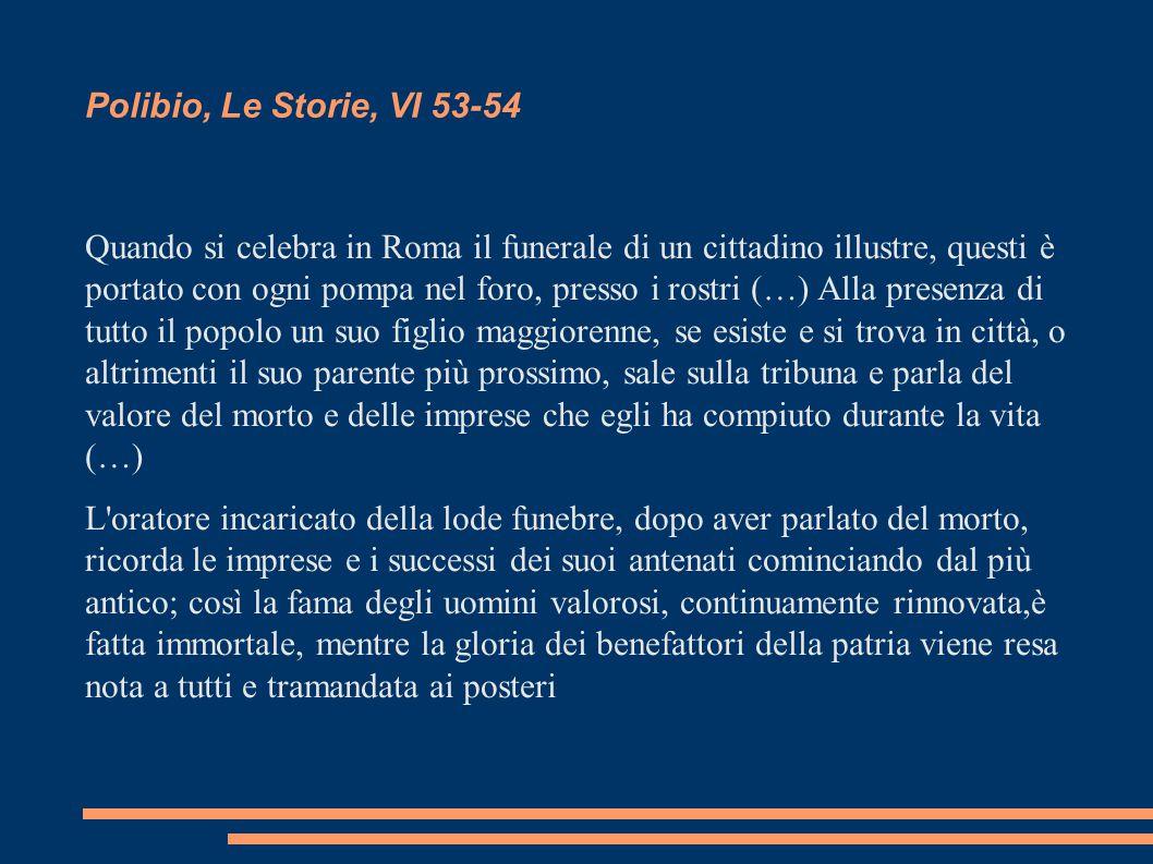 Polibio, Le Storie, VI 53-54
