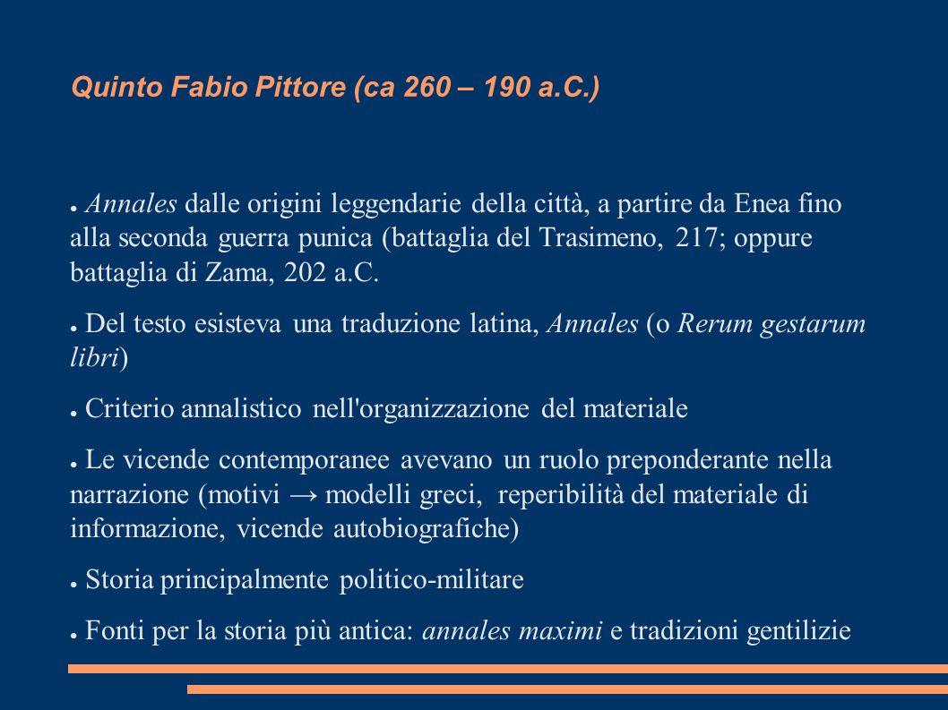 Quinto Fabio Pittore (ca 260 – 190 a.C.)