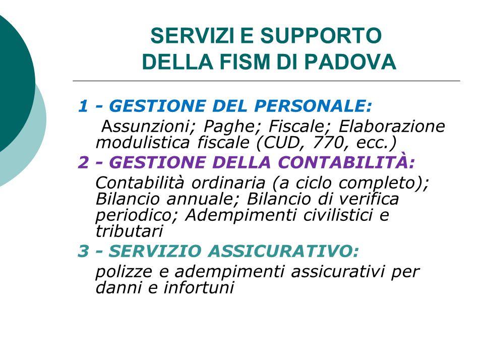 SERVIZI E SUPPORTO DELLA FISM DI PADOVA