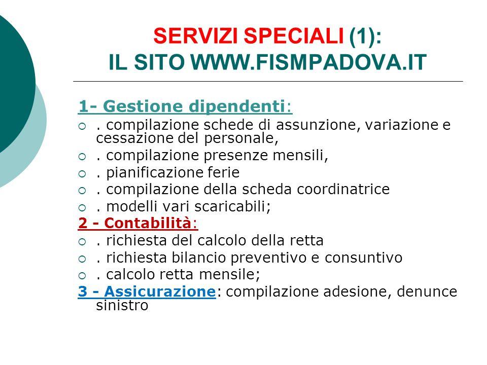 SERVIZI SPECIALI (1): IL SITO WWW.FISMPADOVA.IT