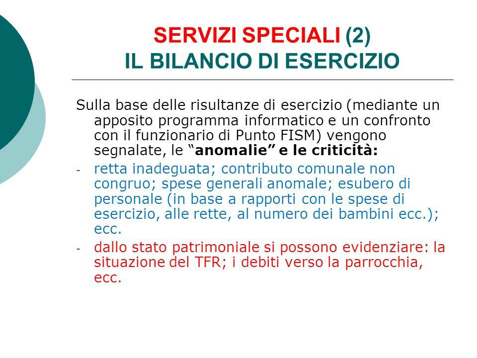 SERVIZI SPECIALI (2) IL BILANCIO DI ESERCIZIO