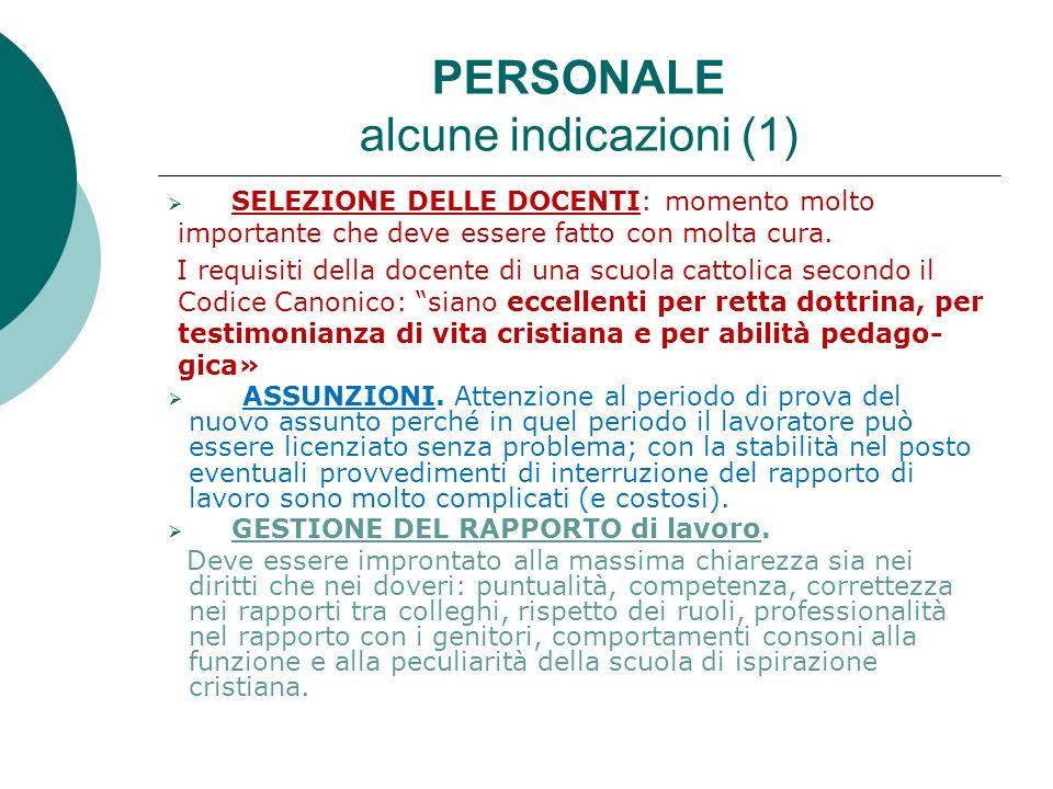 PERSONALE alcune indicazioni (1)