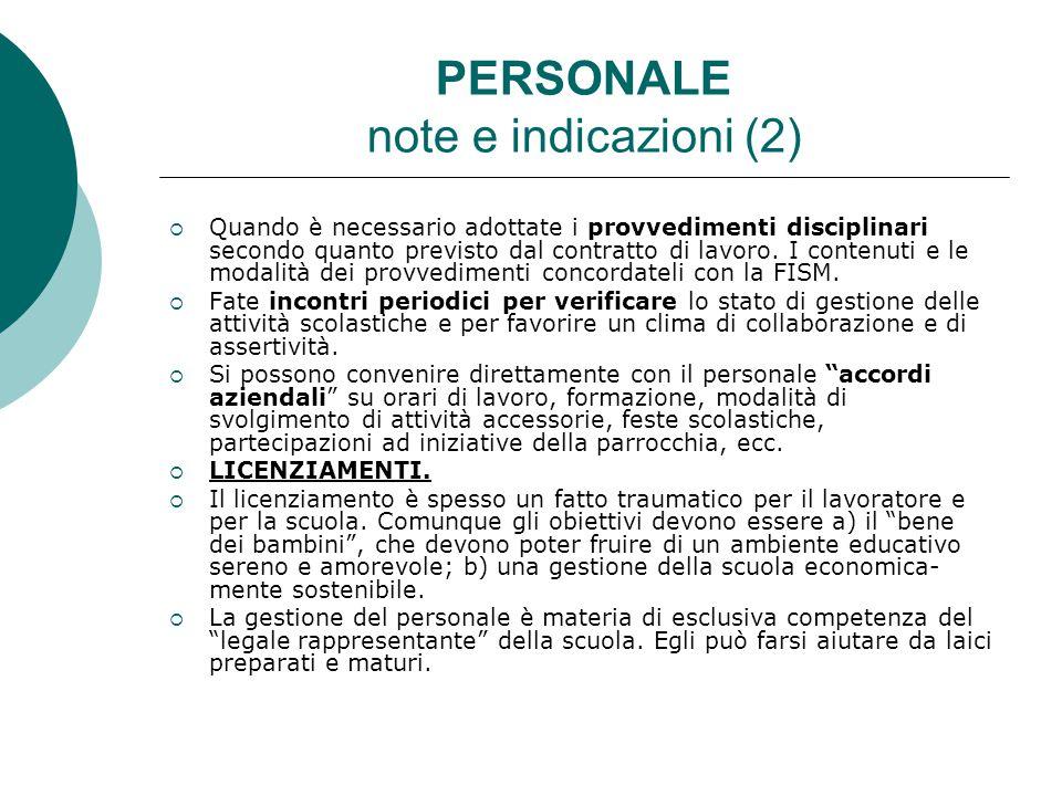 PERSONALE note e indicazioni (2)
