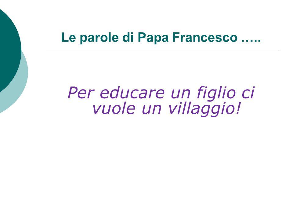 Le parole di Papa Francesco …..