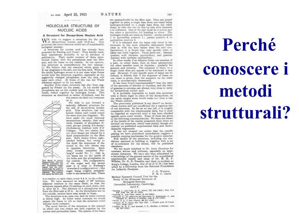 Perché conoscere i metodi strutturali