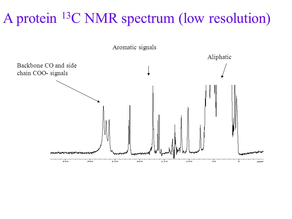 A protein 13C NMR spectrum (low resolution)