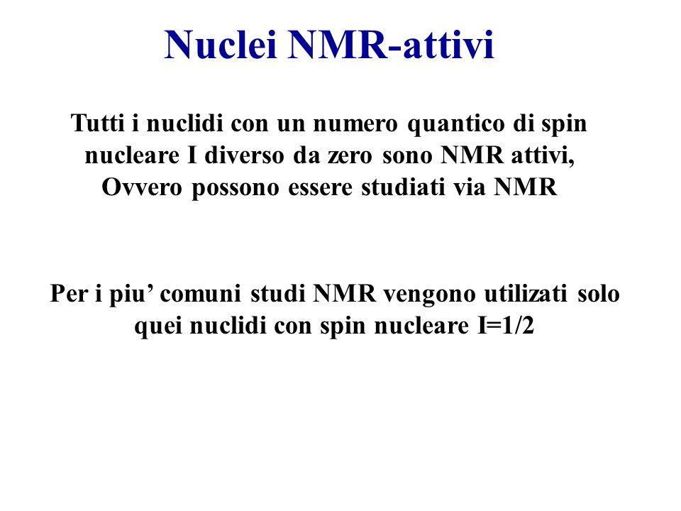 Ovvero possono essere studiati via NMR