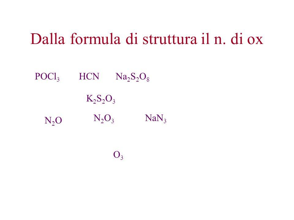 Dalla formula di struttura il n. di ox