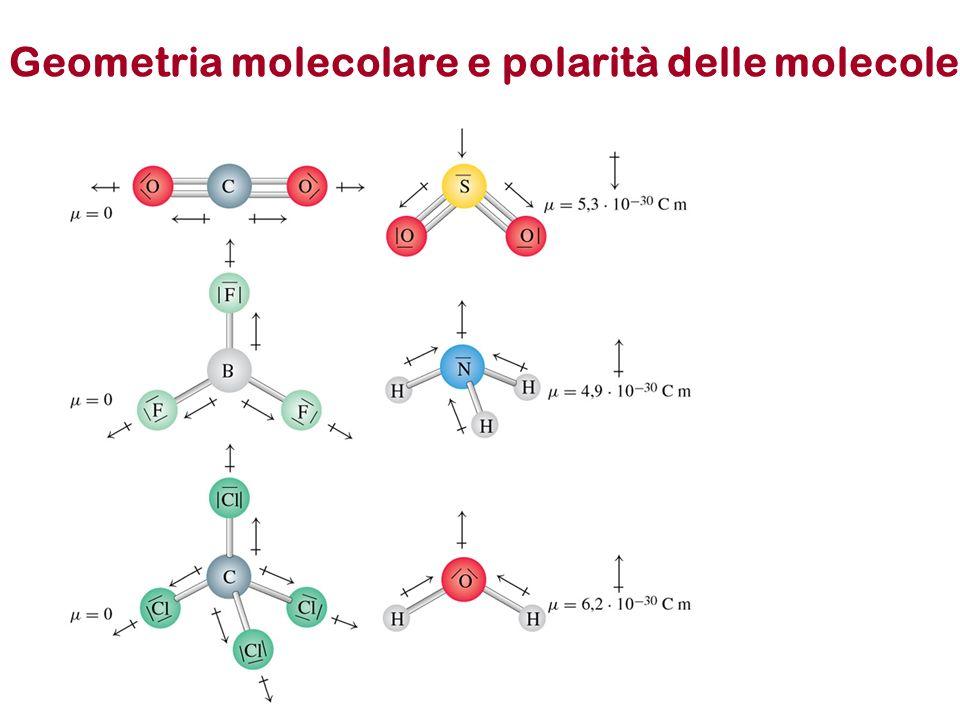 Geometria molecolare e polarità delle molecole