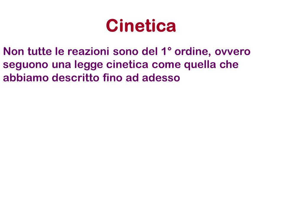 CineticaNon tutte le reazioni sono del 1° ordine, ovvero seguono una legge cinetica come quella che abbiamo descritto fino ad adesso.