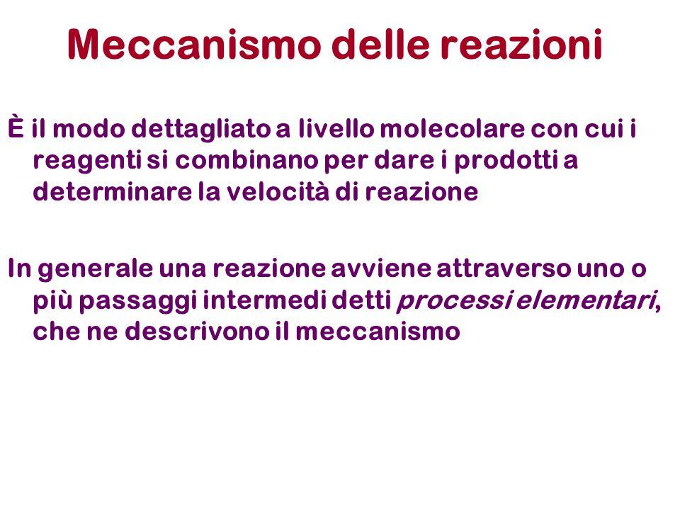 Meccanismo delle reazioni