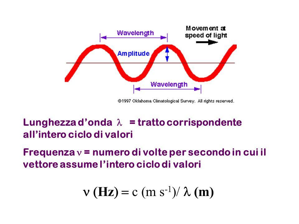 Lunghezza d'onda l = tratto corrispondente all'intero ciclo di valori
