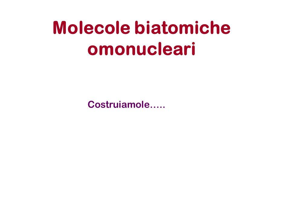 Molecole biatomiche omonucleari