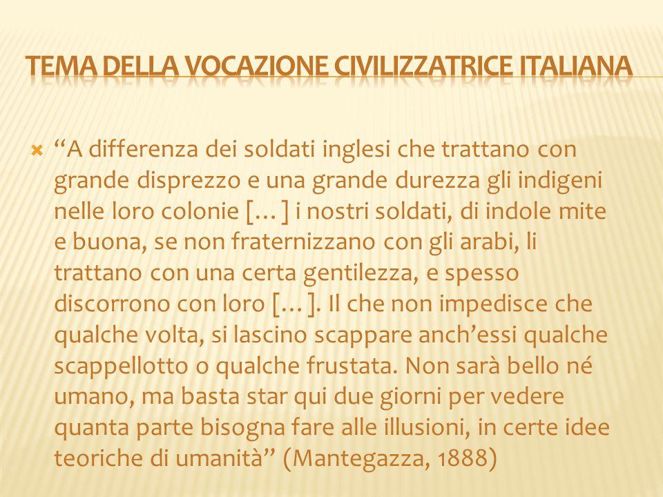 Tema della vocazione civilizzatrice italiana