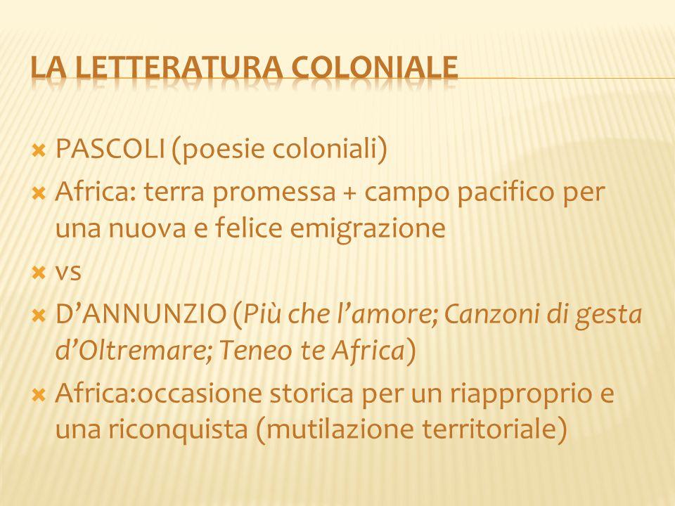 La letteratura coloniale