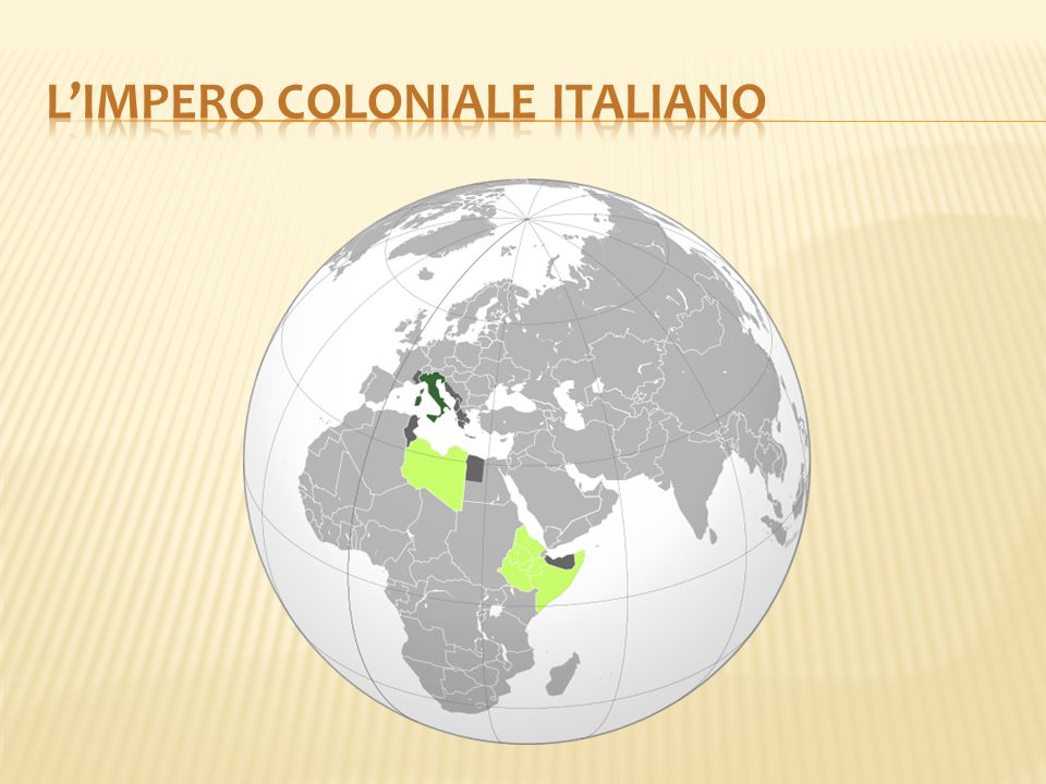 L'impero coloniale italiano