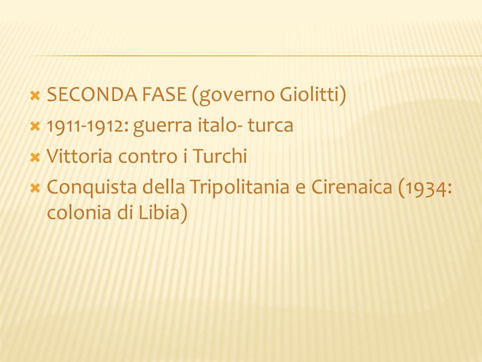 SECONDA FASE (governo Giolitti)
