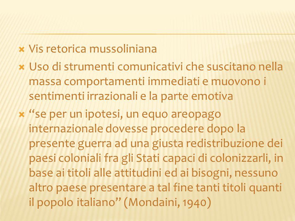 Vis retorica mussoliniana